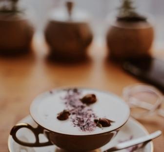 Chai latte for gloomy days