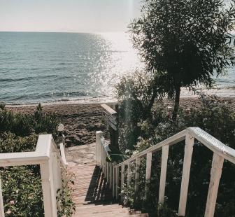 Fairytale place by the beach